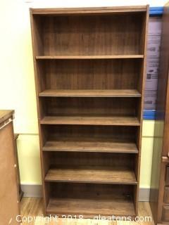 Wood Book Shelf - Good Condition - 6 Shelves