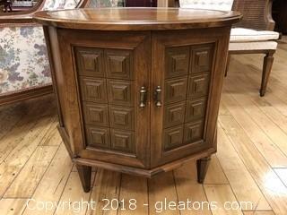 Vintage Oak Side Table - Good Condition