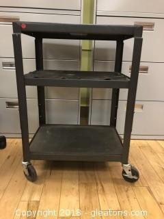 Metal Media Cart