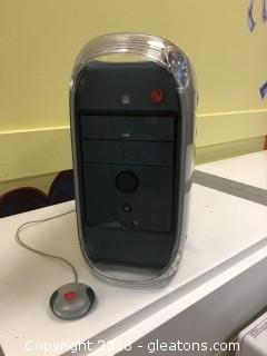 Apple Computer Tower with Mouse, Power Mac G-4
