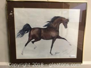Signed Karen Haus Framed Art, Names Championship, 01/25/1981