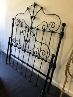 Antique, French Wrought Iron Twin Size Head and Foot Board