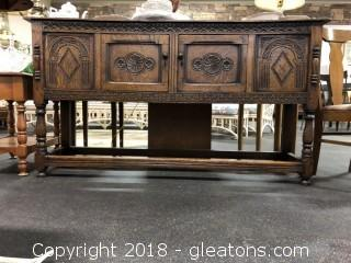 Antique French Buffet - Hand Carved - Incredible Architectural Detail