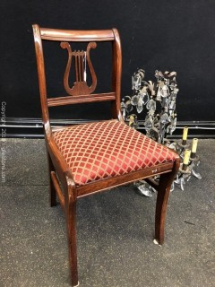 Accent Chair, Mahogany, Lyre Back Chair