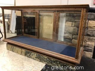 Antique Marble Based Display Case