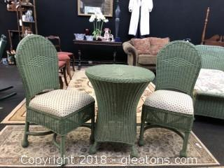 Wicker Table and Chair Set- Perfect for your Spring Patio