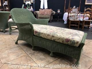Wicker Lounger, matches the Table and Chairs set