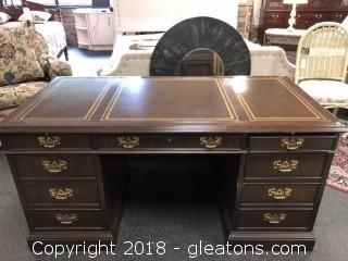 Executive Desk Sligh Leather Top