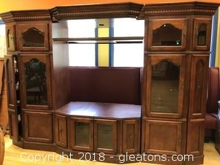 Huge Wall Unit Entertainment Center- Great Condition - Perfect for Flat Screen