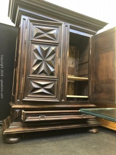 Stunning Wardrobe - 16th Century French Antique Hand Carved - Unbelievable Antique
