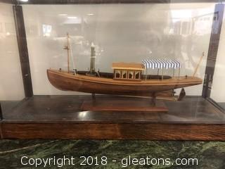 Custom Made Ship Model in Display Case