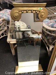 Upscale Wall Mirror Painted Gold