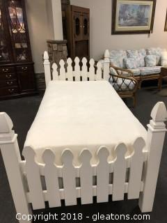 White Picket Fence Twin Bed - Cute