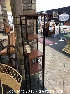 Nice Wine Rack / Bar with Glass Holder