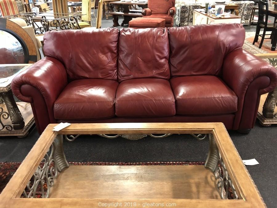 Lane Distressed Leather Sofa