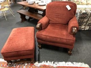 Upscale Pearson Chair & Ottoman