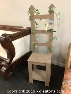 Decorative Chair with Bird House Accent