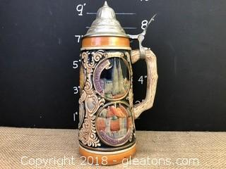 "German Stein, 9"" Marked in Germany"