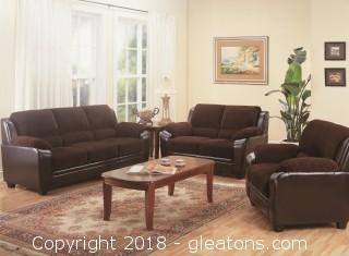 Monika Stationary Sofa with Wood Feet (New)