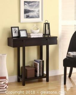 Modern Entry Table with Lower Shelf (New)