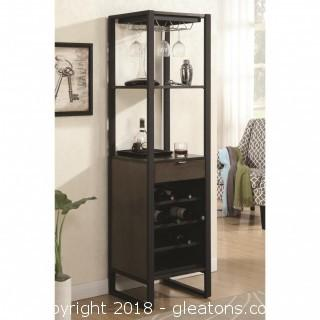 Wine Tower with Bottle and Glass Storage (New)