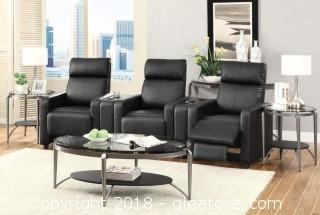 Theater Seating Push-Back Recliner with Contemporary Style (New)