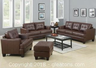 Samuel Stationary Sofa w/ Attached Seat Cushions (New)