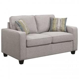 Brownswood Transitional Loveseat with Track Arms (New)
