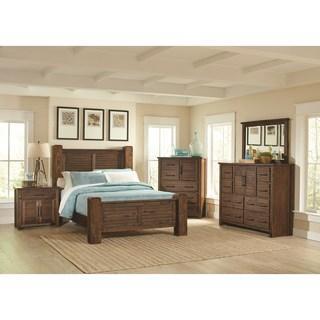Sutter Creek Rustic 4 Piece King Bedroom Set (NEW)