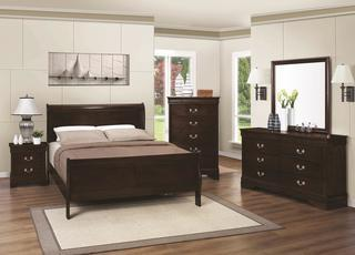 Louis Philippe 4 Piece Queen Sleigh Bed Set (NEW)