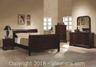 Louis Philippe 4 Piece Queen Sleigh Bedroom Set (new)