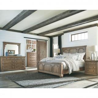 Florence 4 Piece Pine British Classical Queen Bedroom Set (New)