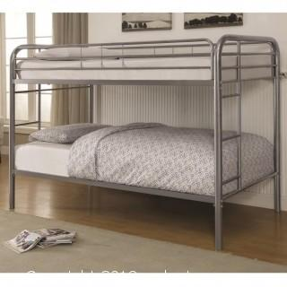 Metal Beds Twin Over Twin Bunk Bed with Built-In Ladders (New)