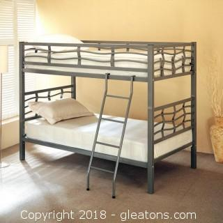 Bunks Twin Bunk Bed with Ladder (New)