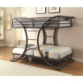 Bunks Twin-over-Twin Contemporary Bunk Bed (New)