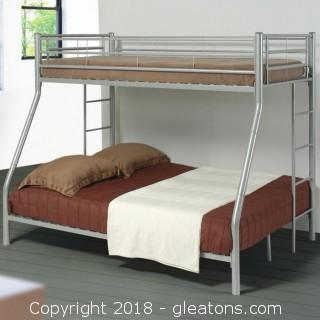 Denley Metal Twin over Full Bunk Bed (New)