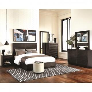 Matheson 4 Piece Queen Modern & Clean Lines Bedroom Set (New)