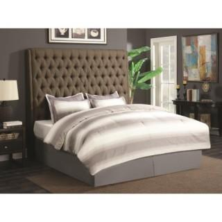 Upholstered Beds Upholstered King Headboard with Diamond Tufting (New)