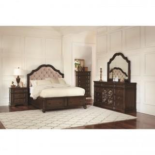 Ilana 4 Piece Queen Storage Bed Set (NEW)
