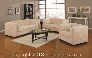 Alexis Transitional Chesterfield Sofa with Track Arms (New)