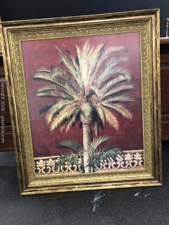 Large Framed Decorative Palm