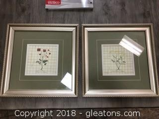 Pair Original Floral Water Colors