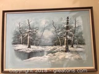 Winter Landscape by Reed Oil on Canvas