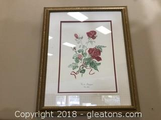 "Anne Gotham Botanical Print ""Vinde Bourgogne"""