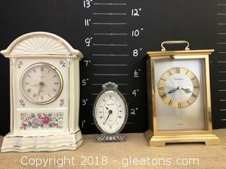 Lot of Three Desktop Clocks