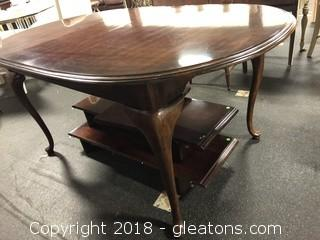 Cherry Traditional Dining Table Two Leafs