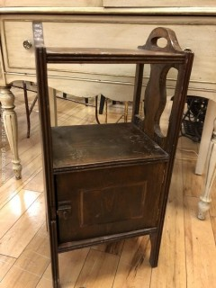 Antique Bedside Table W/Chamber Pot Cupboard