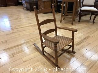 Children's Wooden Rocking Chair Brown