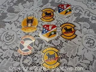 Air Force Military Metal Plaque Badges