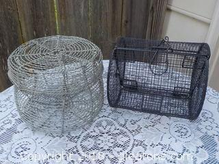 Wire Egg Basket & Wire Bingo Basket
